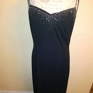 Beautiful detailed black gown